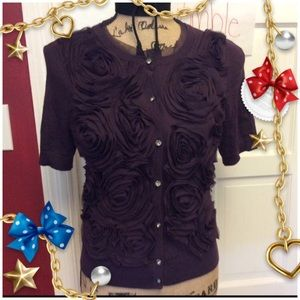 🎈2 for $40🎈Loft Plum Floral Chiffon Cardigan